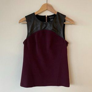 Club Monaco Tank Top with Leather Detail